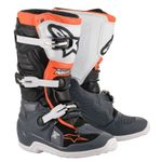TECH 7S - BLACK GRAY WHITE ORANGE FLUO