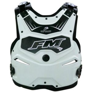 Plastron FM Racing BARRACUDA WHITE 2018