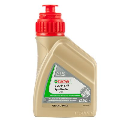 Huile de fourche Castrol SYNTHETIC FORK OIL 5W 500ML