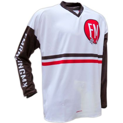 Maillot cross FM Racing VINTAGE FLAGS WHITE 2018