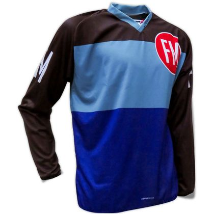 Maillot cross FM Racing VINTAGE TRIPLE BLUE 2018