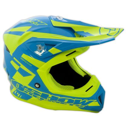Casque cross FM Racing O'SHOW C4+ BLUE / YELLOW 2018